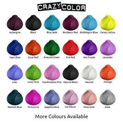 Crazy Color Hair Dye shades